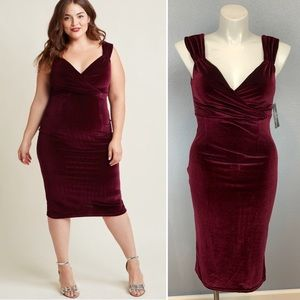 Rock Steady Lady Love Song velvet wiggle dress XL